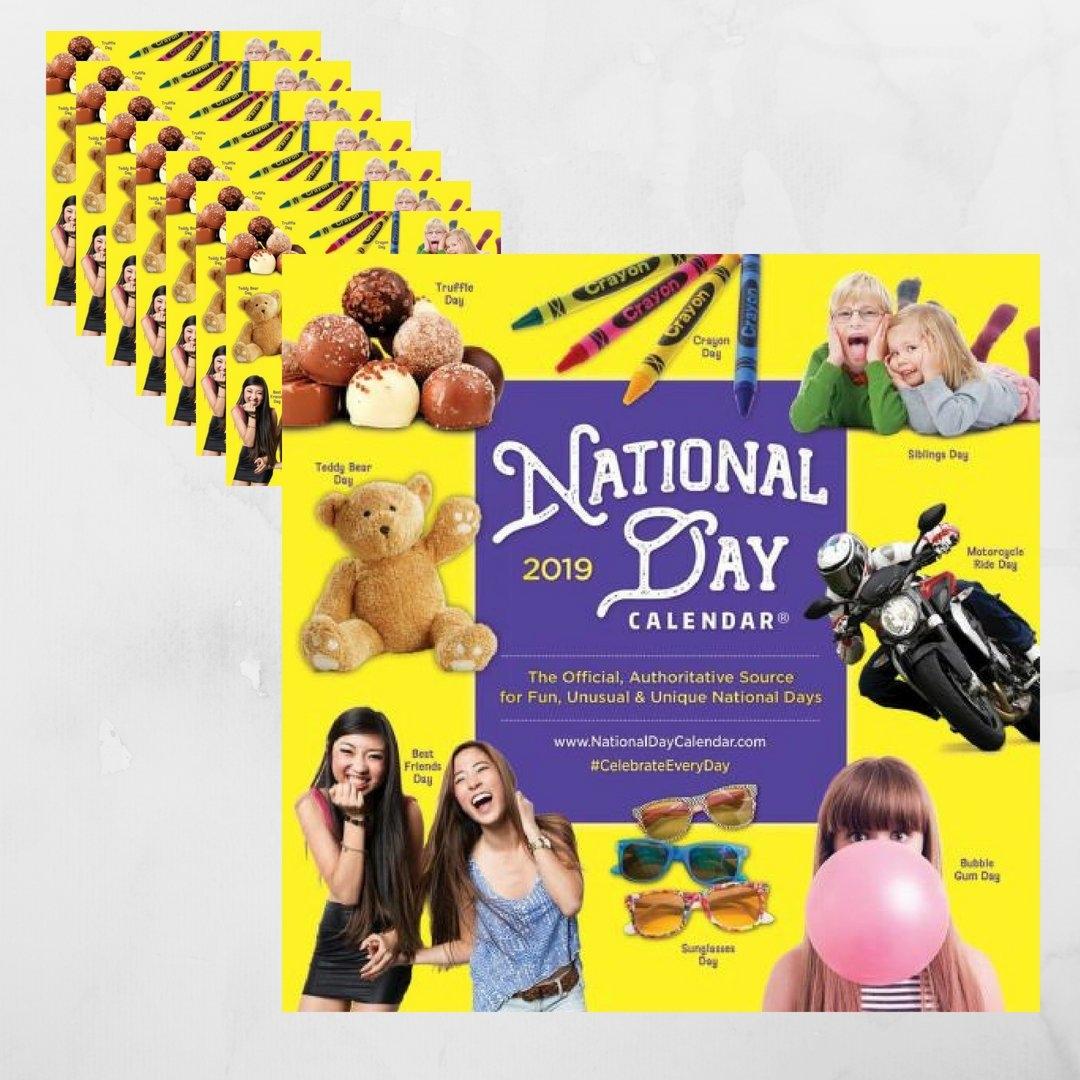 8 Pack | 2019 National Day Wall Calendar Calendar 2019 National Days