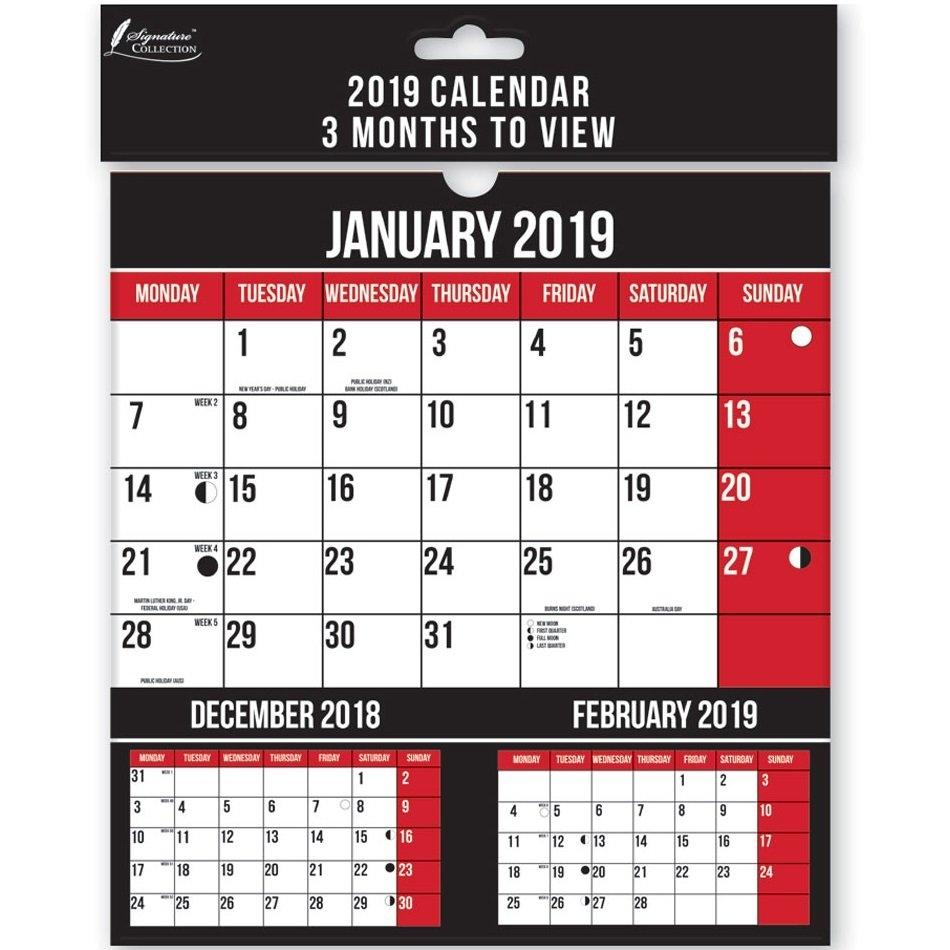 """9"""" 2019 Small Month To View Wall Calendar Lunar Engagement Full 9/2019 Calendar"""