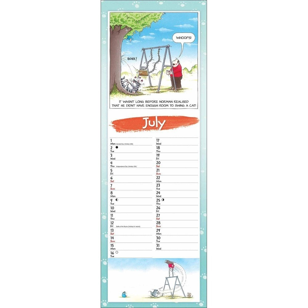 9 Lives Slim Cat Wall Calendar 2019 101602 9 Lives Calendar 2019