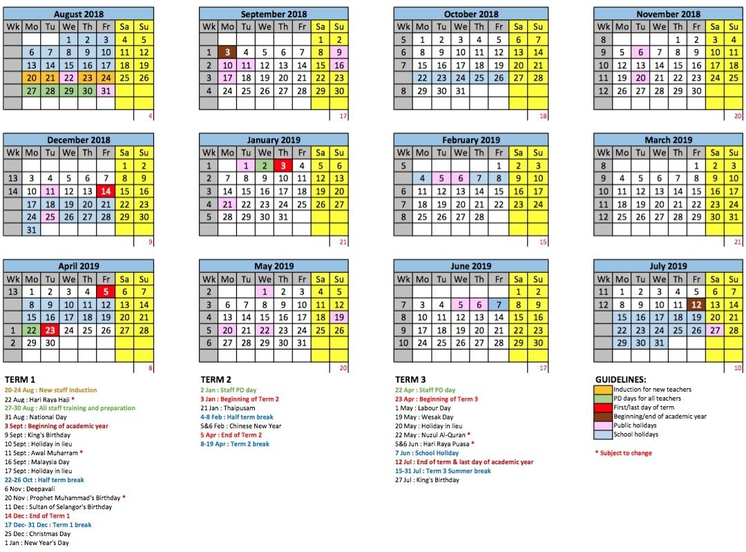 Academic Year Calendar – Gems International School   Metropark Calendar 2019 Kolkata