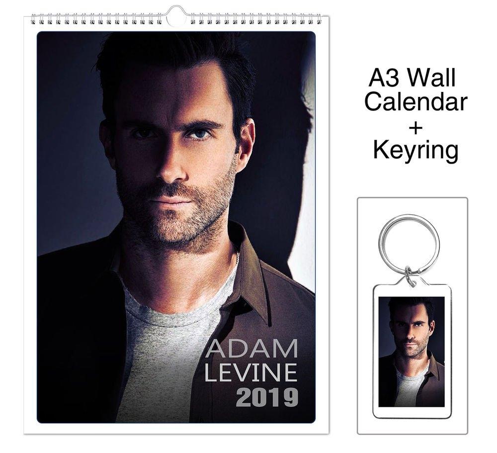 Adam Levine Maroon 5 2019 Wall Holiday Calendar + Keyring   Ebay Maroon 5 Calendar 2019
