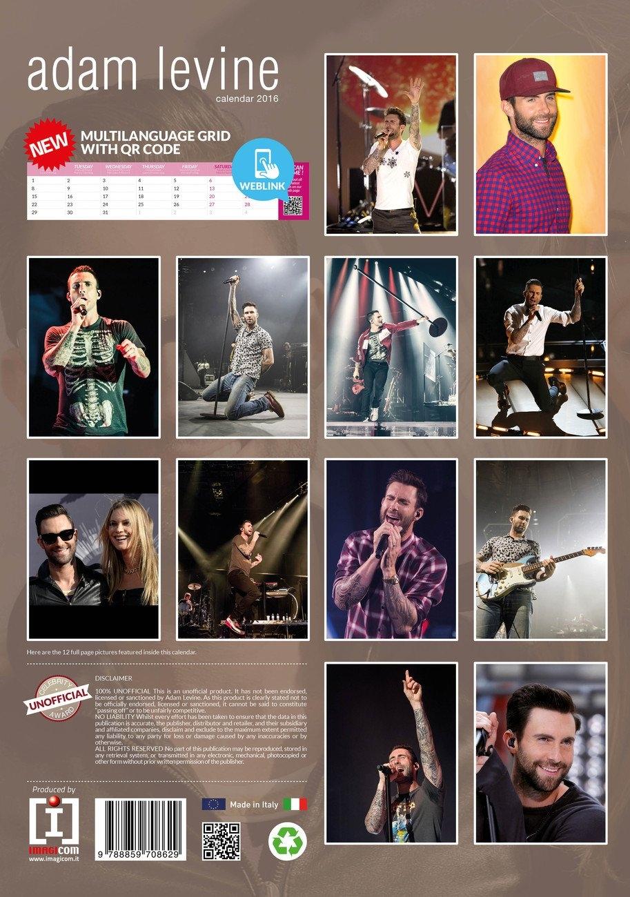 Adam Levine (Maroon 5) - Calendars 2019 On Ukposters/abposters Maroon 5 Calendar 2019