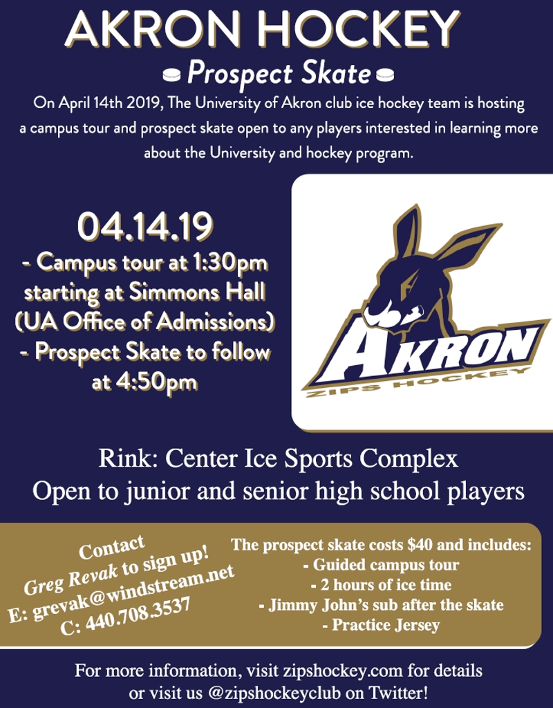 Akron Zips Hockey Akron U Calendar 2019
