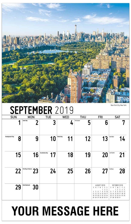America Scenic Calendar   65¢ Business Promo Advertising Calendar Calendar 2019 America
