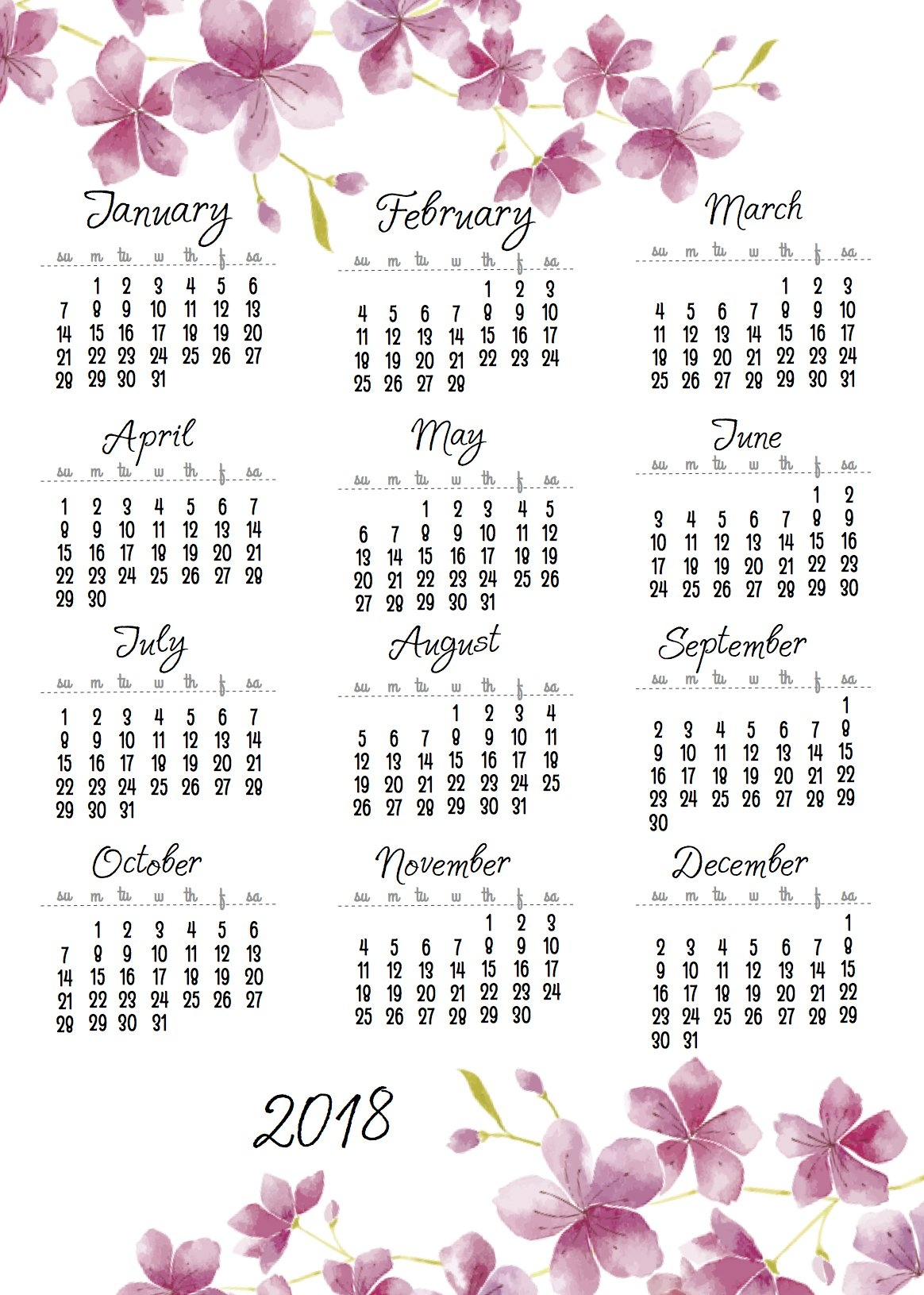And One More 2018+2019 Calendar One Sheets   Scrappystickyinkymess 2019 Calendar 1 Sheet