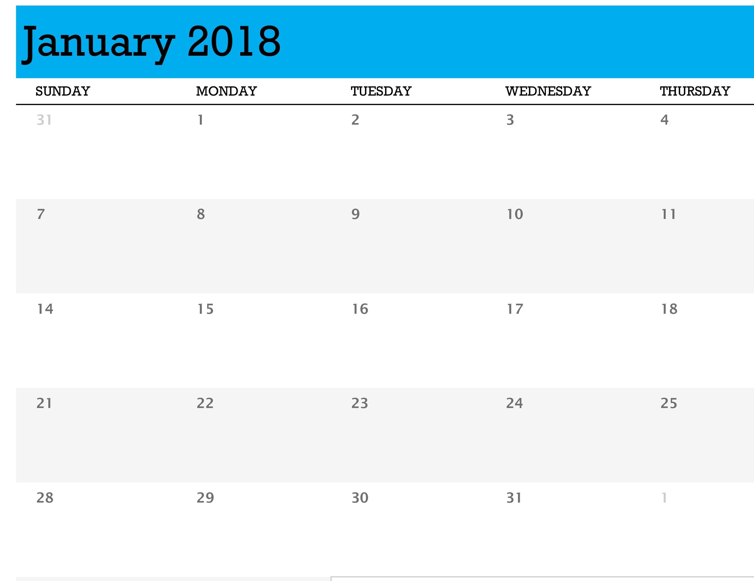 Any Year Calendar (1 Month Per Tab) Calendar 2019 Excel Starting Monday