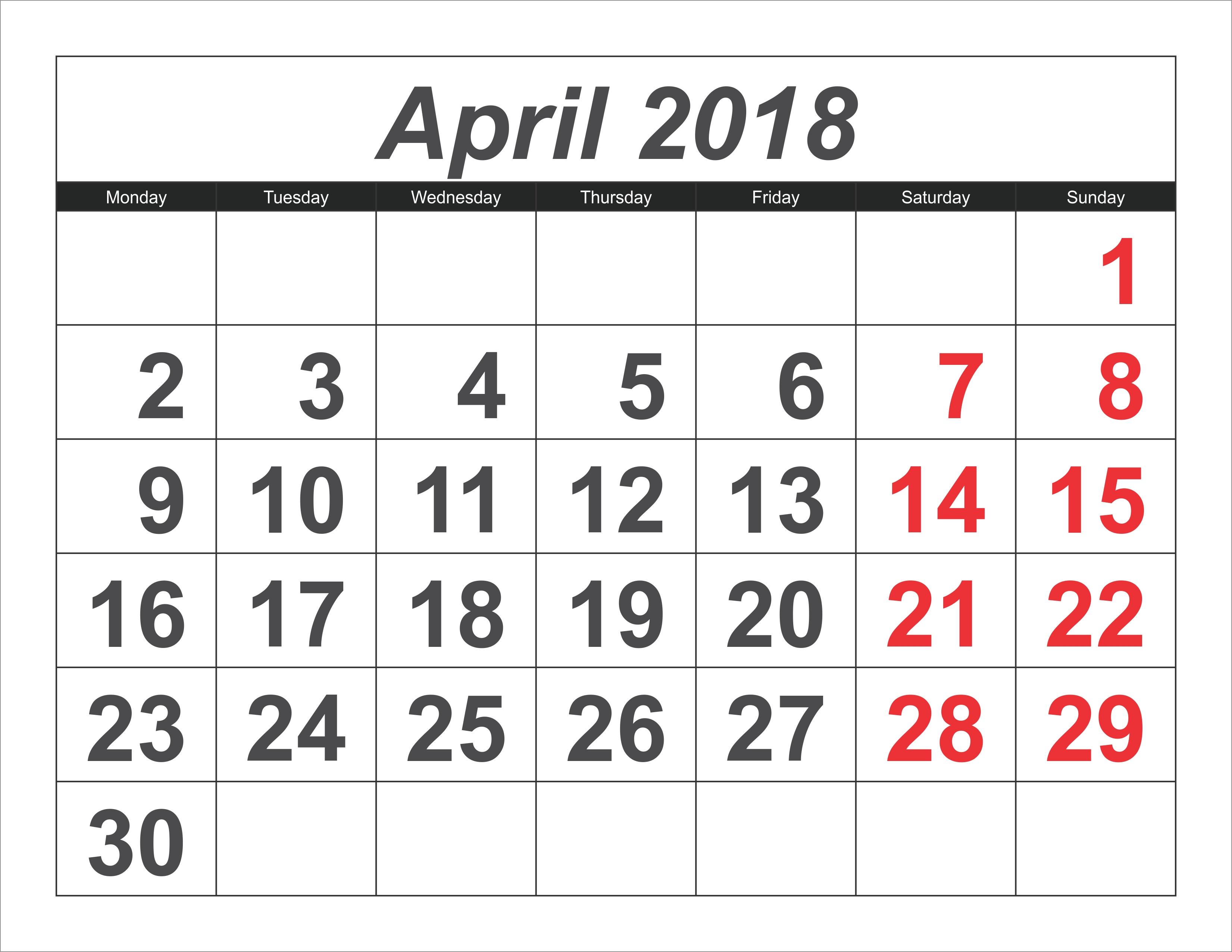 April 2019 Calendar Template #april #april2019 #april2019Calendar April 9 2019 Calendar