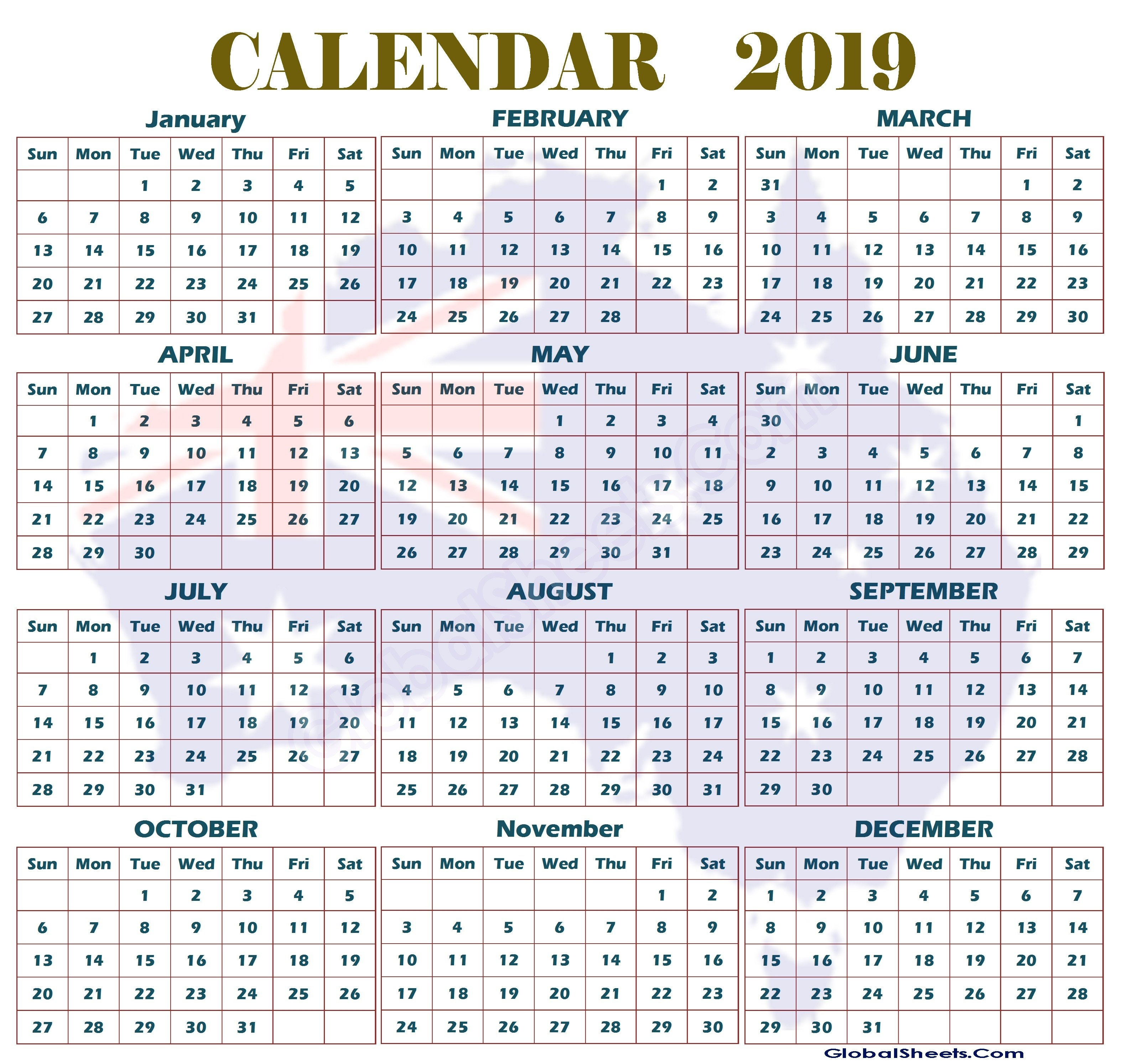 Australian 2019 Year Calendar – Littledelhisf 2019 Calendar Qld Printable