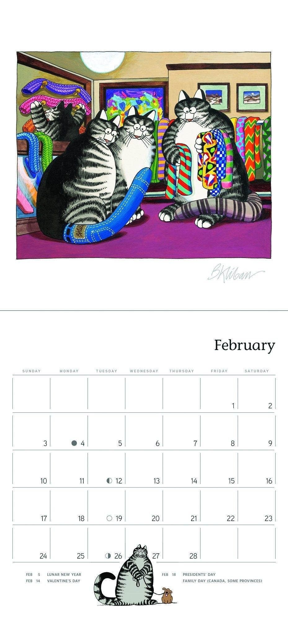 B. Kliban: Catcalendar 2019 Mini Wall Calendar Calendar – Mini B Kliban Cat Calendar 2019