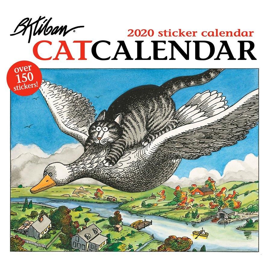B. Kliban: Catcalendar 2020 Sticker Wall Calendar B Kliban Cat Calendar 2019