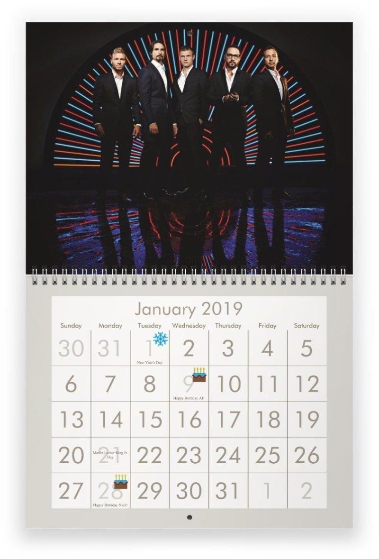 Backstreet Boys 2019 Calendar | 2019 Calendars | 2019 Calendar Calendar 2019 Etsy