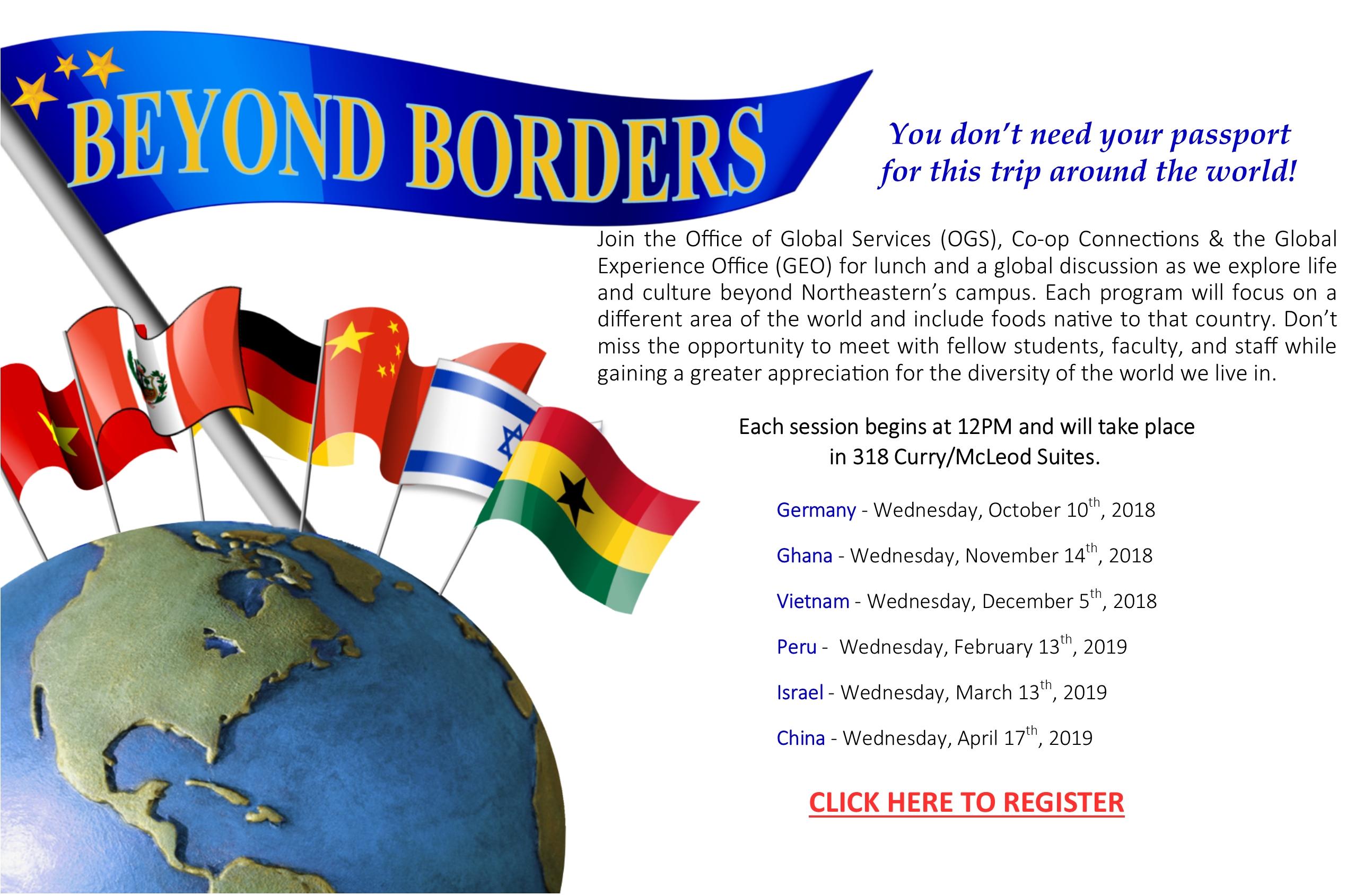 Beyond Borders Series: 2018 2019 – Co Op Connections At Northeastern Calendar 2019 Northeastern