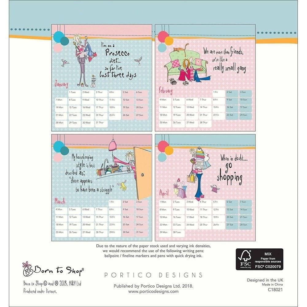 Born To Shop 2019 Desk Calendar 102323 Calendar 2019 Shop