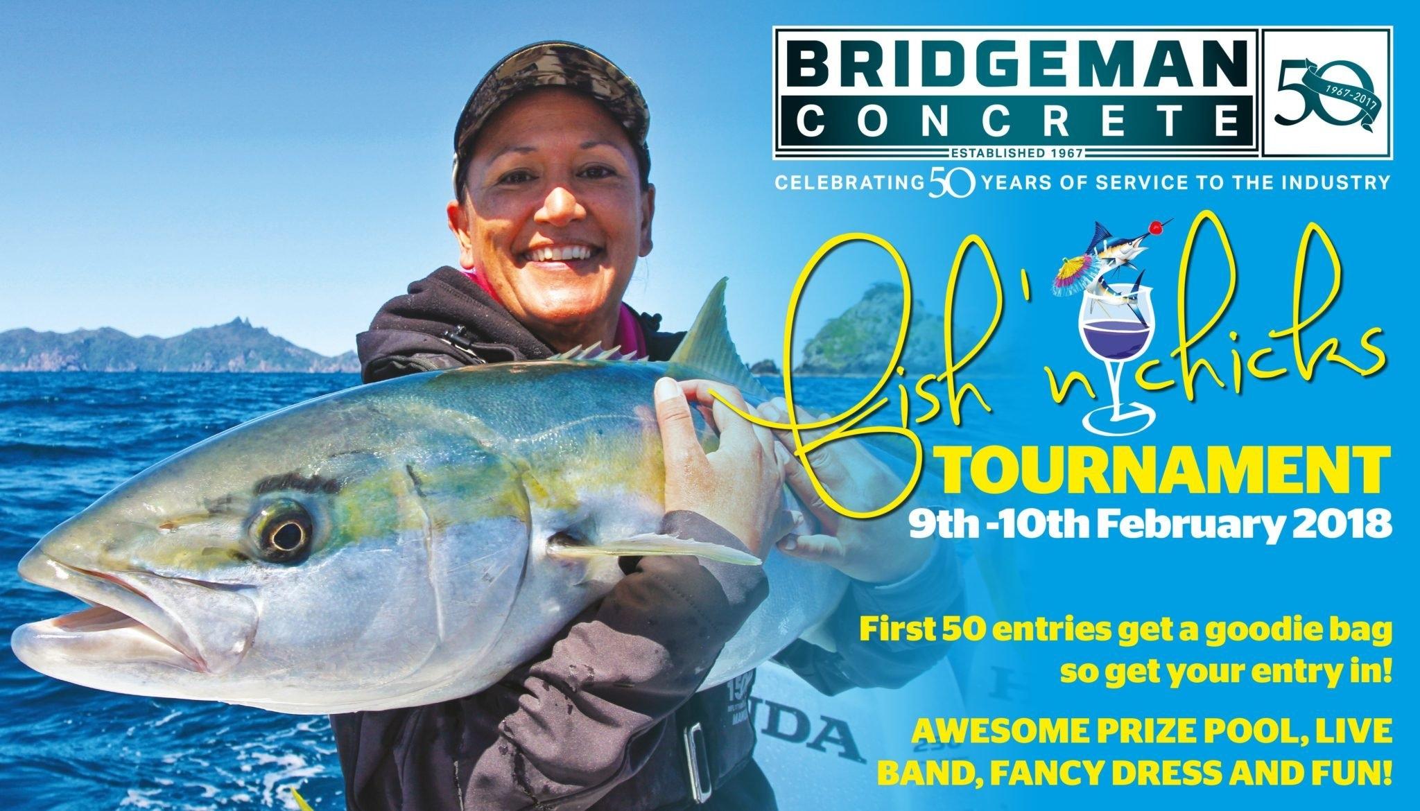 Bridgeman Concrete Fish N Chicks Tournament 2018 – Tauranga Sport Fish N Chix Calendar 2019