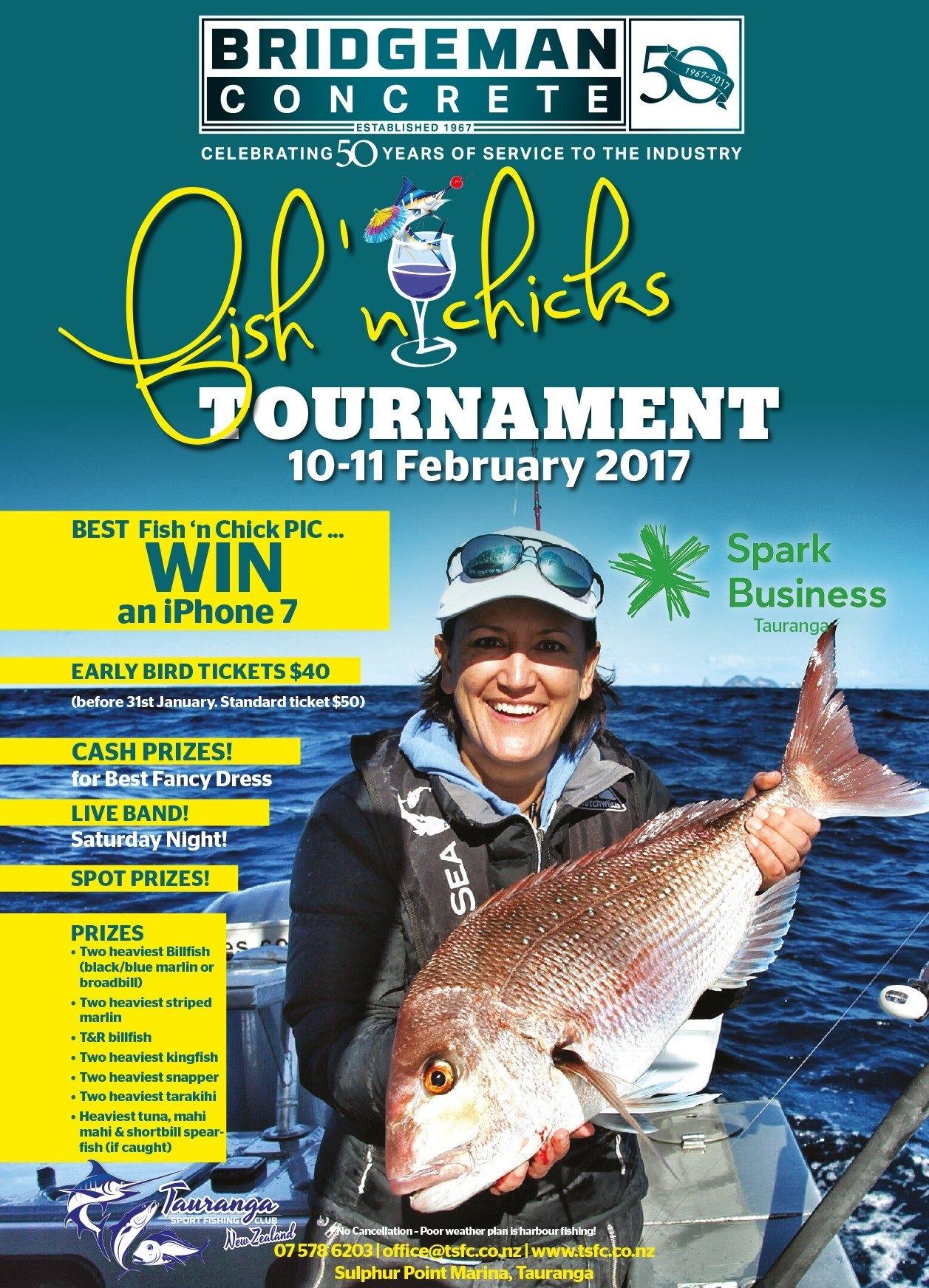 Bridgeman Fish N Chicks Tournament 10 11Th February 2017 – Tauranga Fish N Chix Calendar 2019