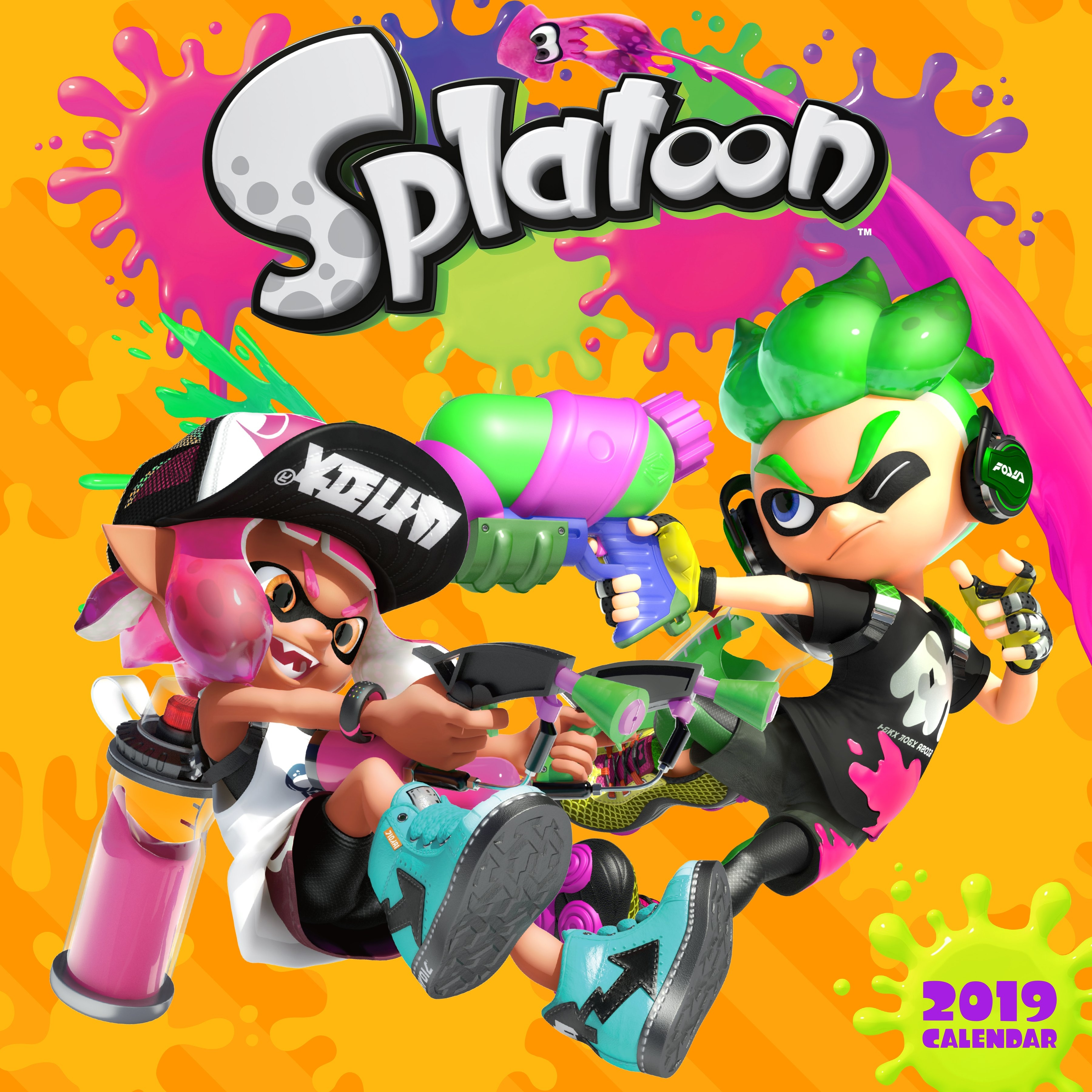 Buy Splatoon 2019 Wall Calendarpokemon With Free Delivery Splatoon 2 Calendar 2019