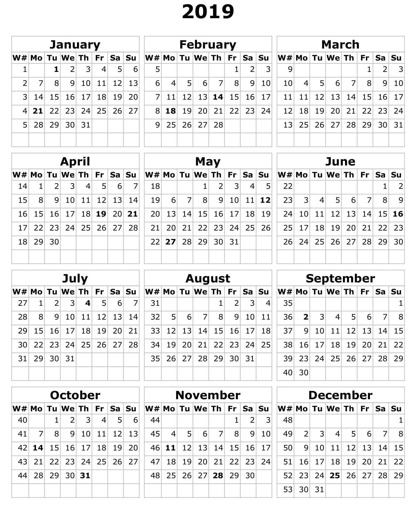 Calendar 2019 Microsoft Word – Free Calendar Templates & Worksheets Calendar 2019 Microsoft