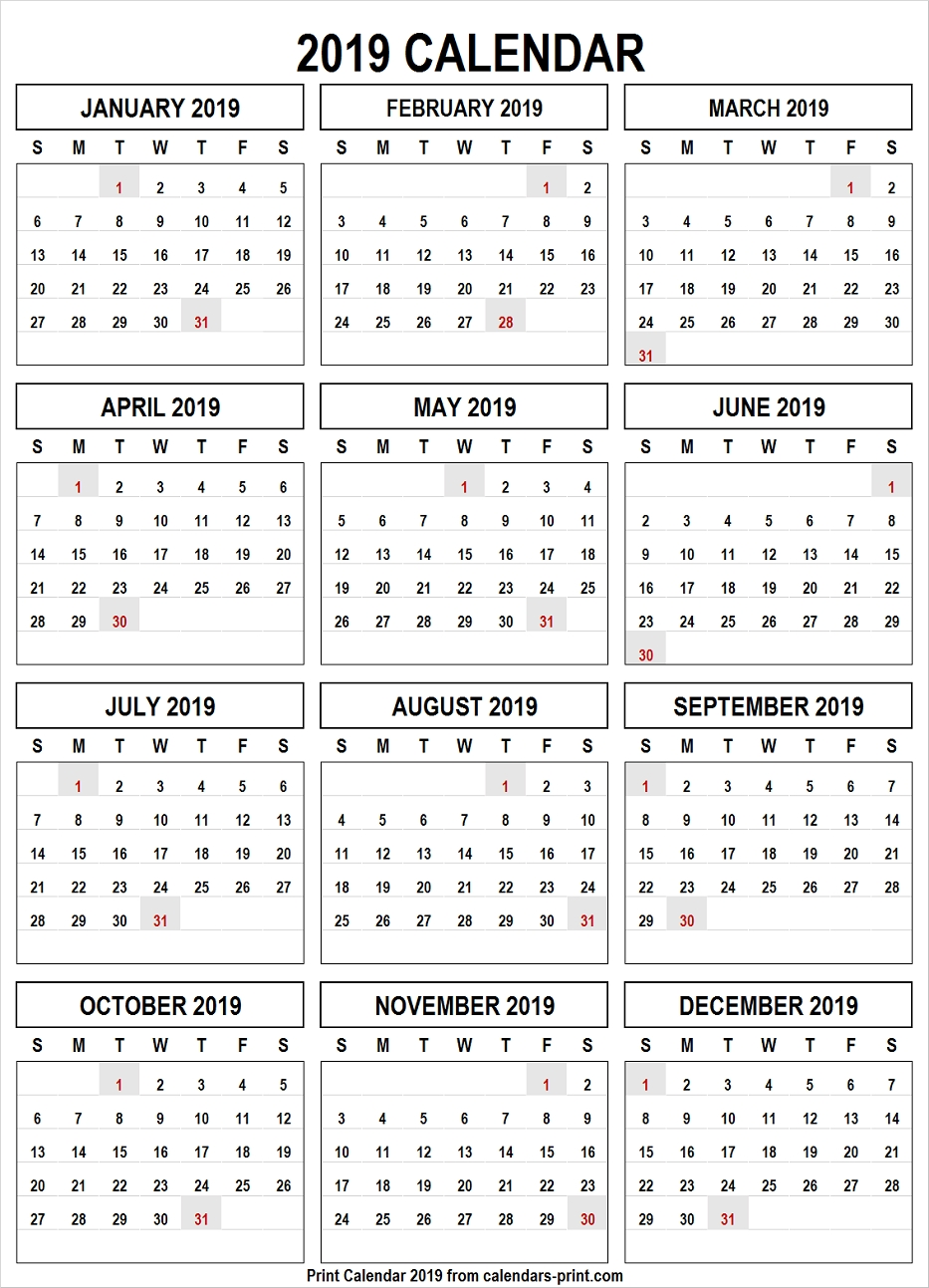 Calendar 2019 Png Free Download Template With Notes   Holidays Calendar 2019 Png