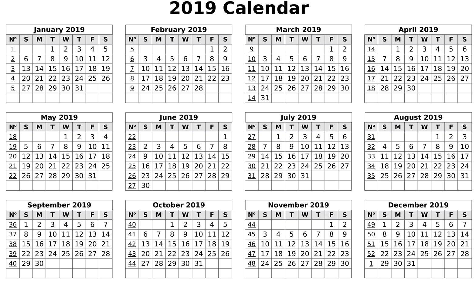 Calendar 2019 Print Out   Free Printable 2018 Calendar Template Word Calendar 2019 To Print