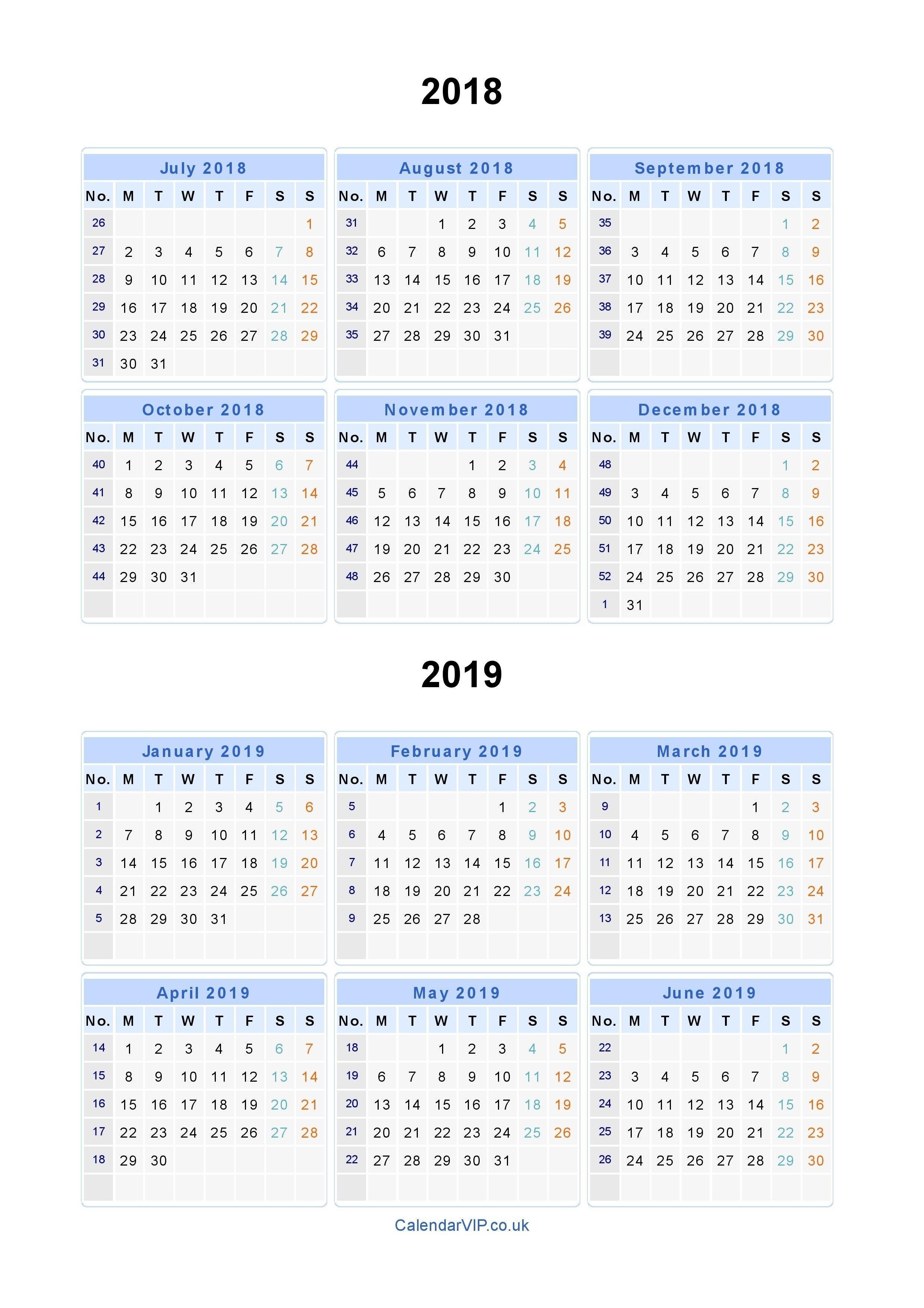 Calendar 2019 Time And Date Free Printable Calendar 2018 Printable Calendar 2019 Date And Time