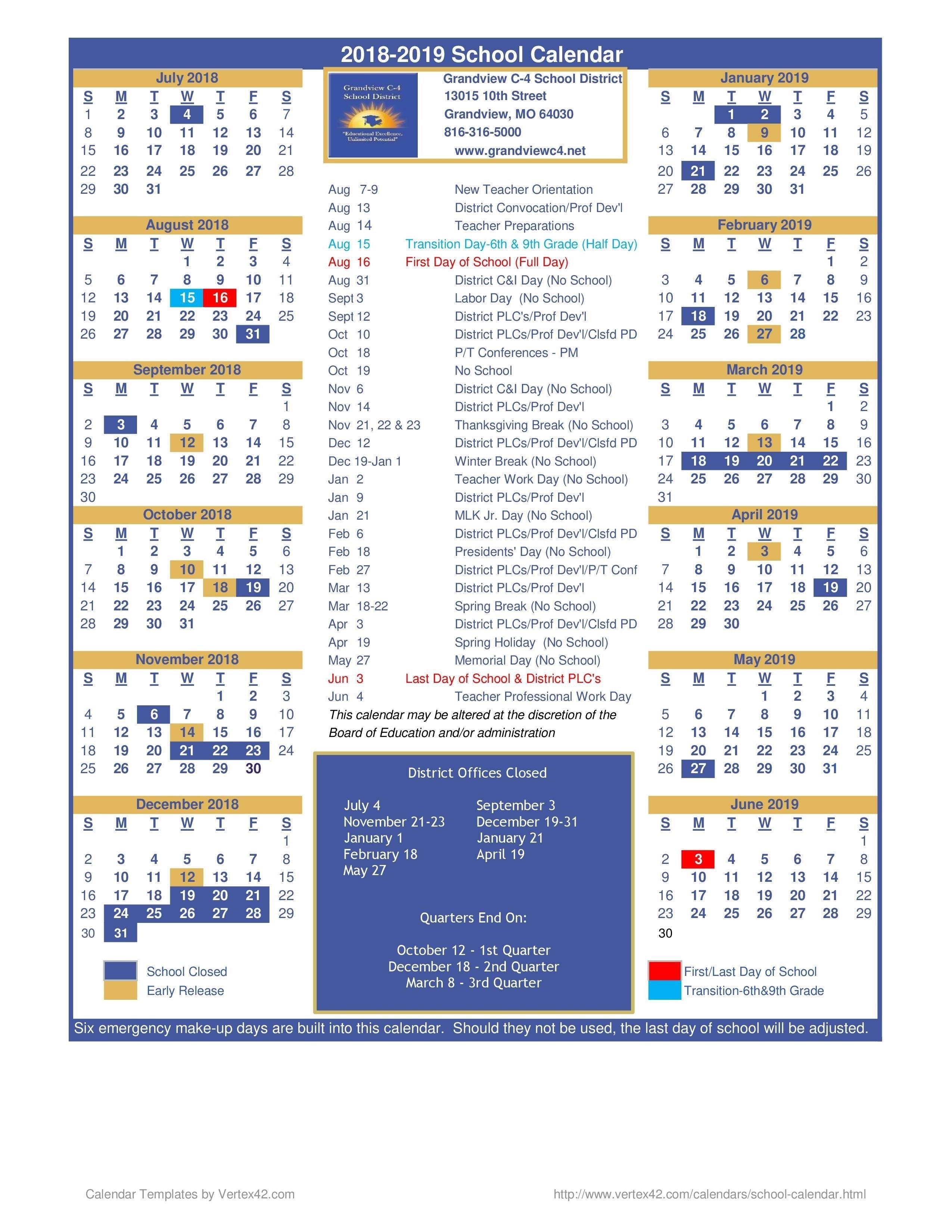 Calendar 2019 Vertex42 | 2019 Calendar With Holidaysvertex42 Calendar 2019 Vertex 42