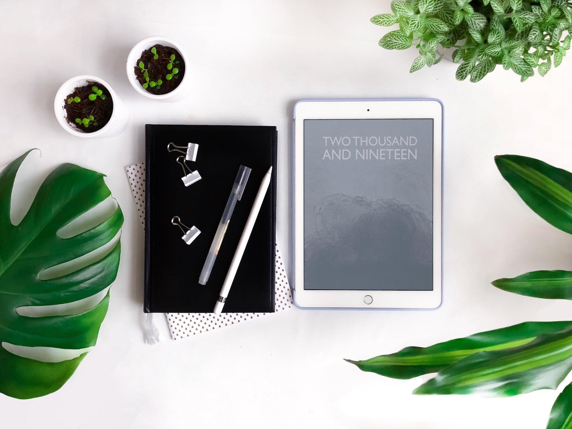 Calendar And Bullet Journal 2019 [Free Digital Notebook Template Calendar 2019 Notebook