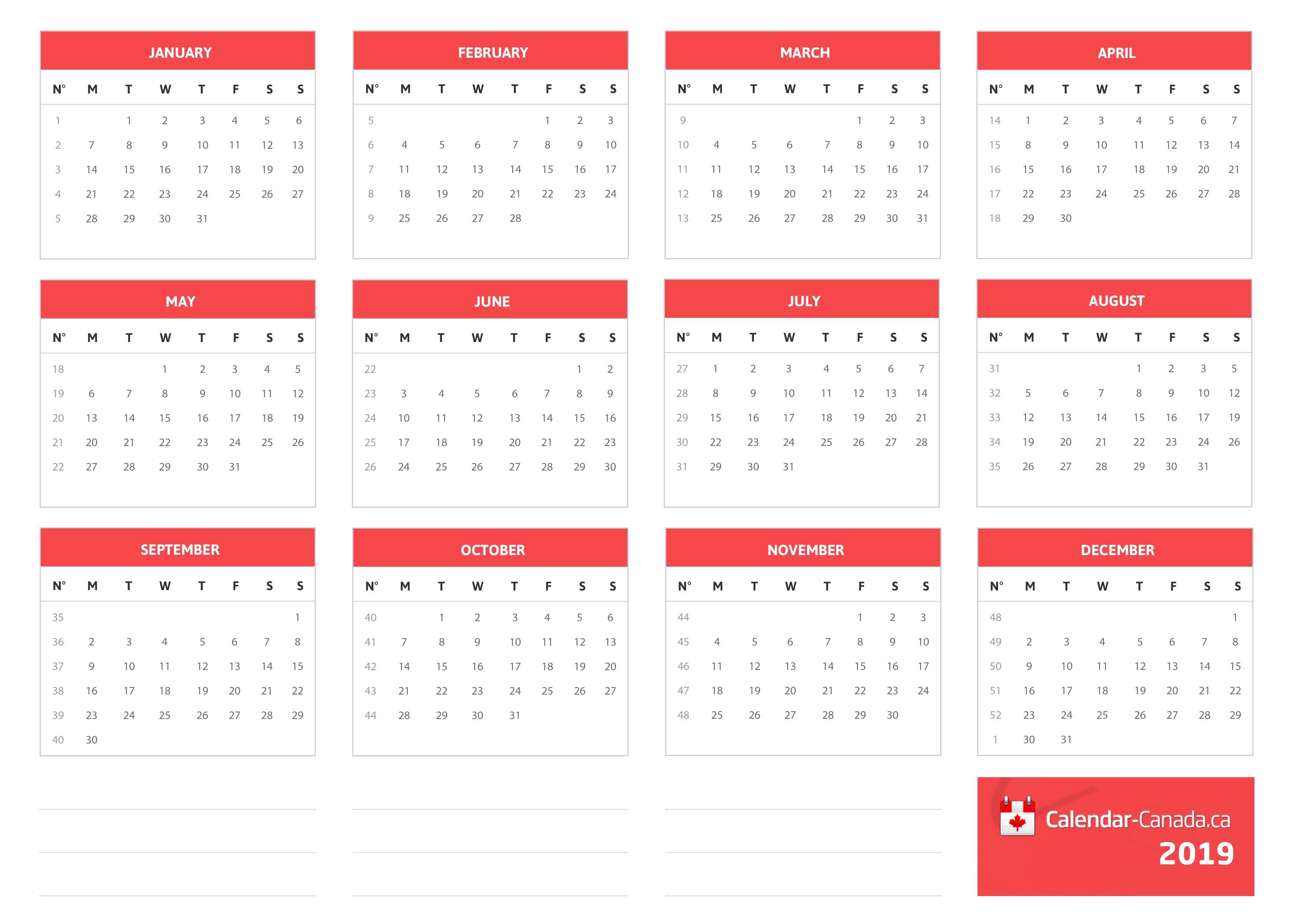 Calendar Canada.ca Free Calendar With All Important Dates For Canada Calendar Of 2019 Canada