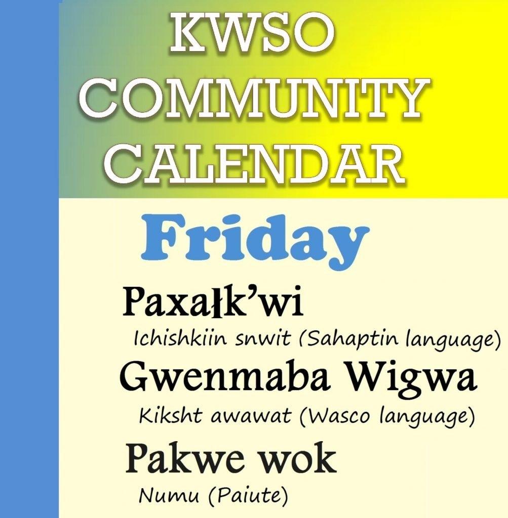 Calendar Fri., Feb. 8, 2019 – Kwso 91.9 509J Calendar 2019