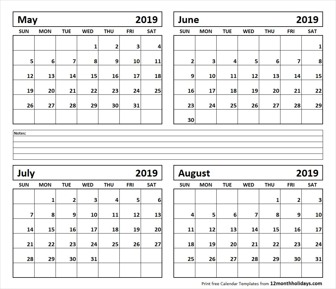 Calendar June August 2019   Template Calendar Printable Calendar 2019 June July August