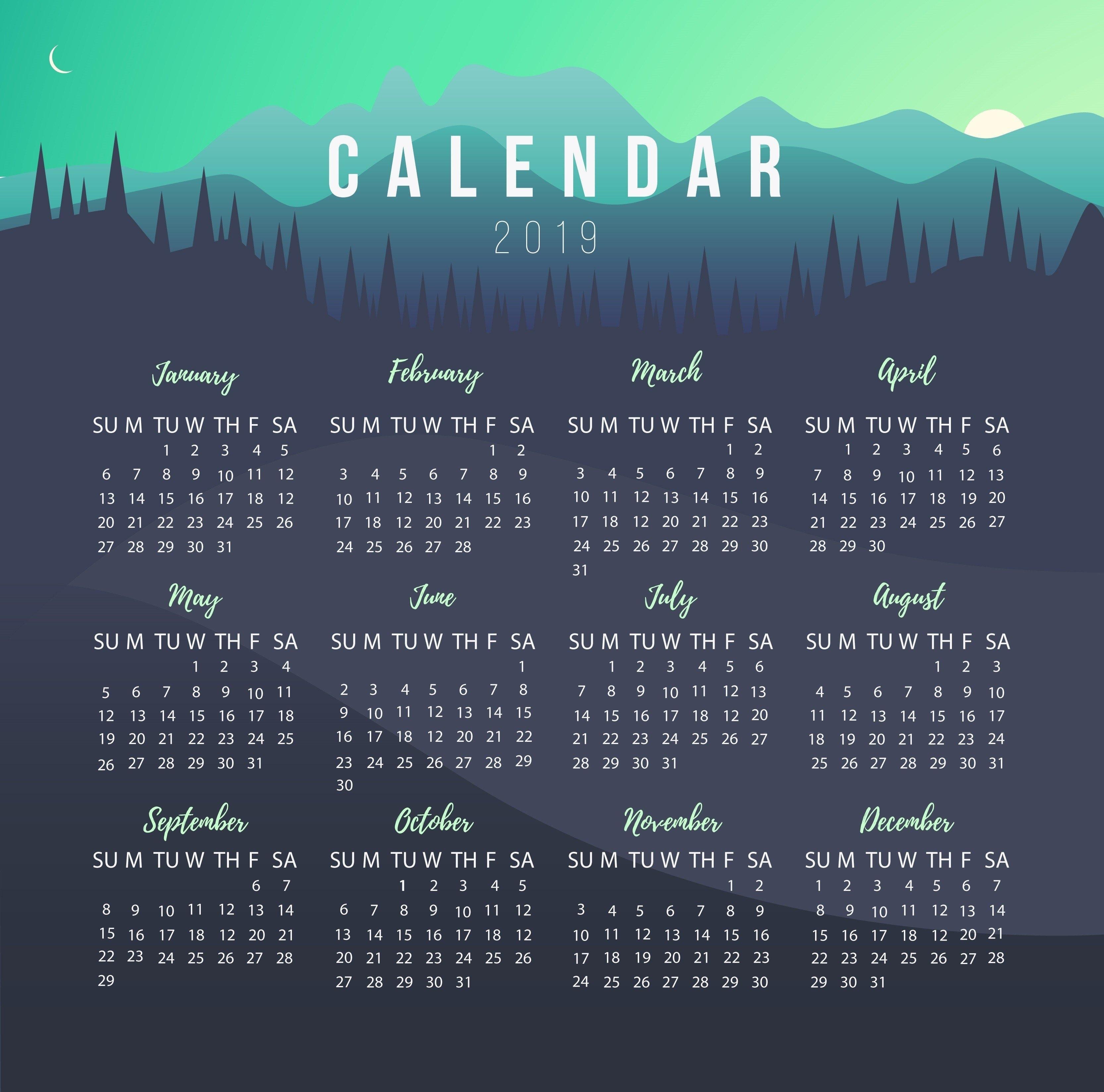 Calendar Maker In The Philippines   Dotph The Official Domain Name Calendar 2019 Maker