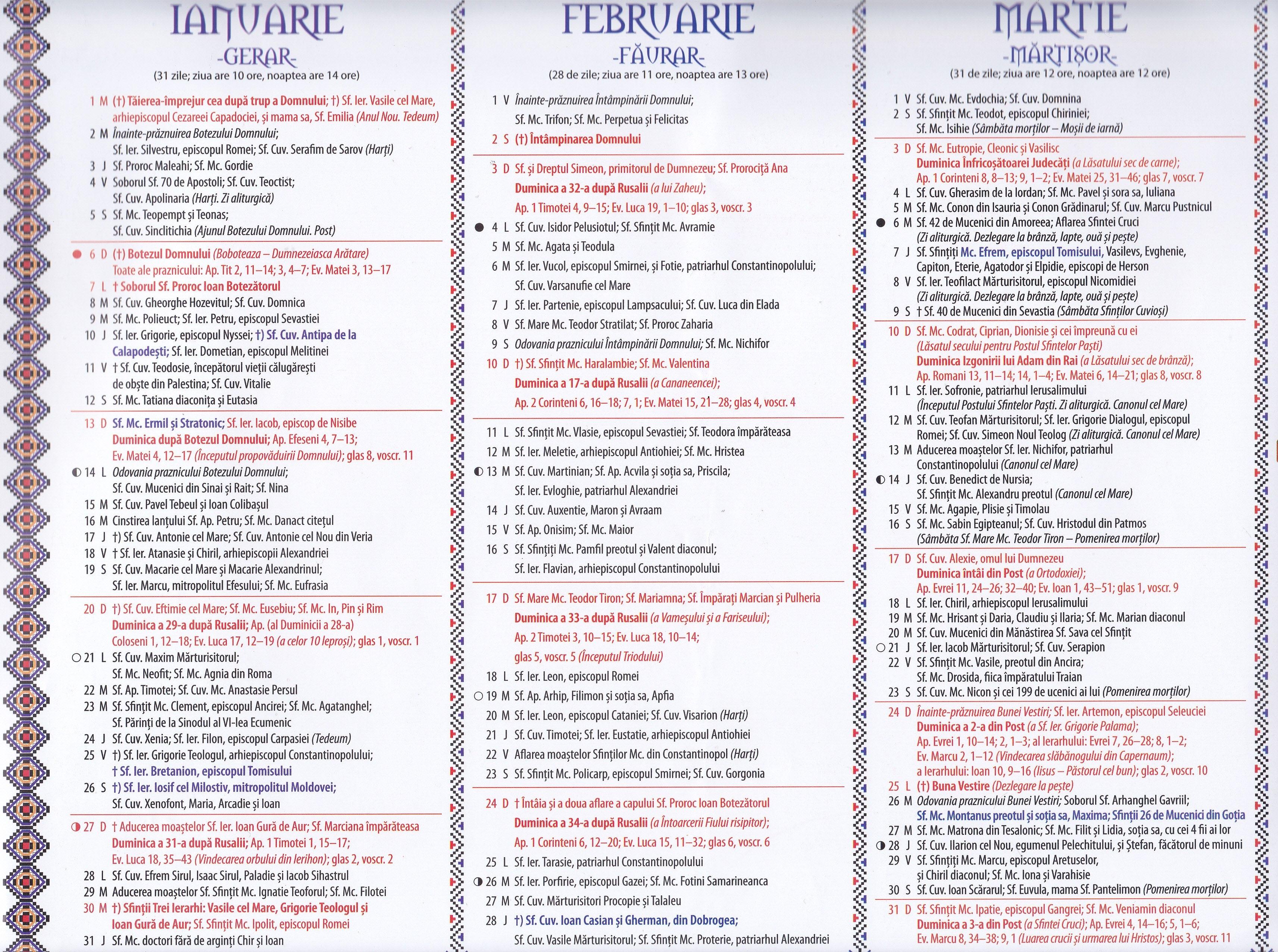 Calendar Ortodox - 2018 8 Iunie 2019 Calendar Ortodox
