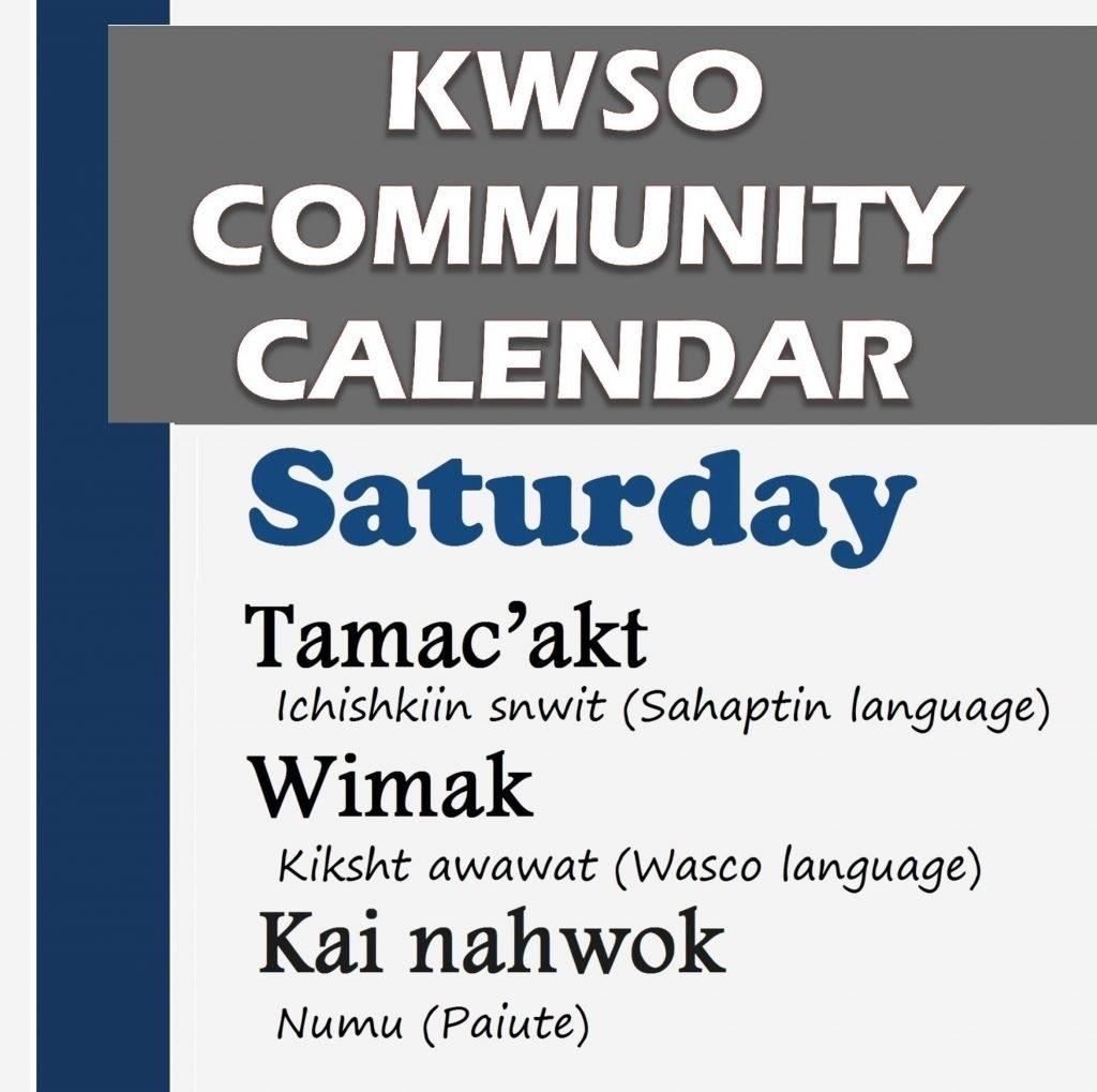 Calendar Sat., Feb. 9, 2019 – Kwso 91.9 9/2019 Calendar