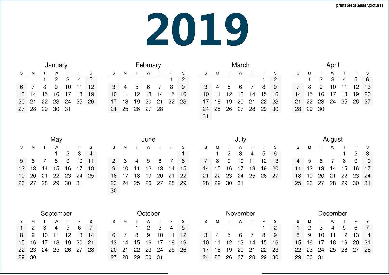 Calendar Template 2019   Calendar Template 2019   Calendar, 2019 Discover 5 Calendar 2019