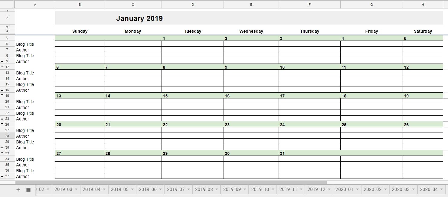 Calendar Template Google Sheets 2019 | Google Docs For Business Calendar 2019 Google