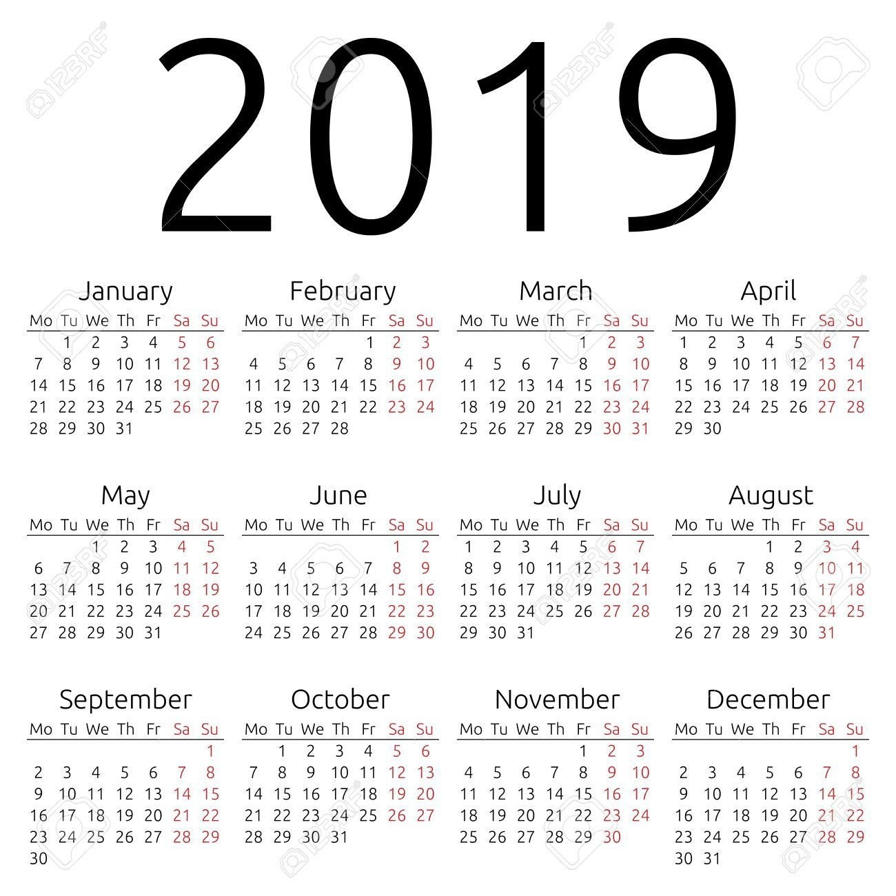 Calendar Templatevertex42 2019 | Calendar 2019 Vertex42 With Calendar 2019 Vertex 42