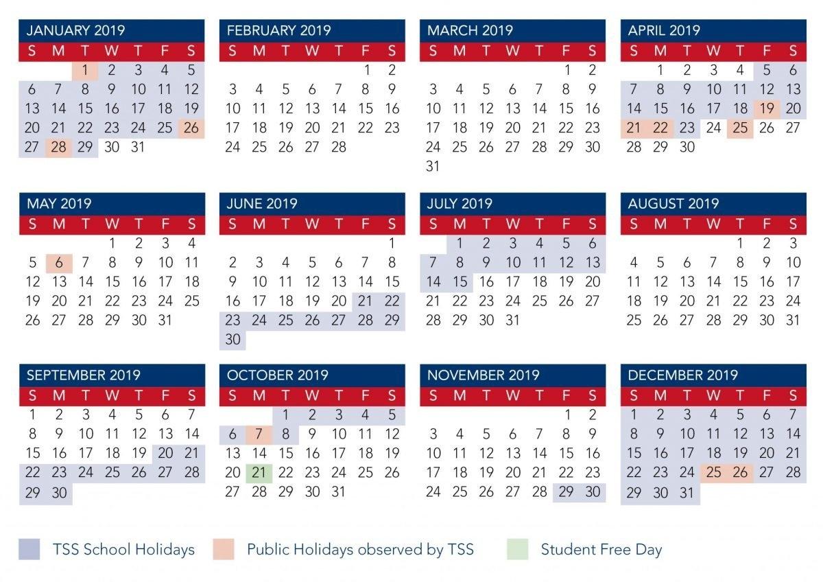 Calendar   The Southport School 2019 Calendar Qld Education