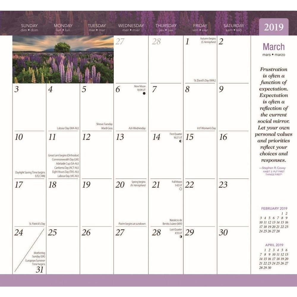 Calendarsdotcom: 2019 7 Habits Planner, Motivationbrowntrout 7 Habits Calendar 2019