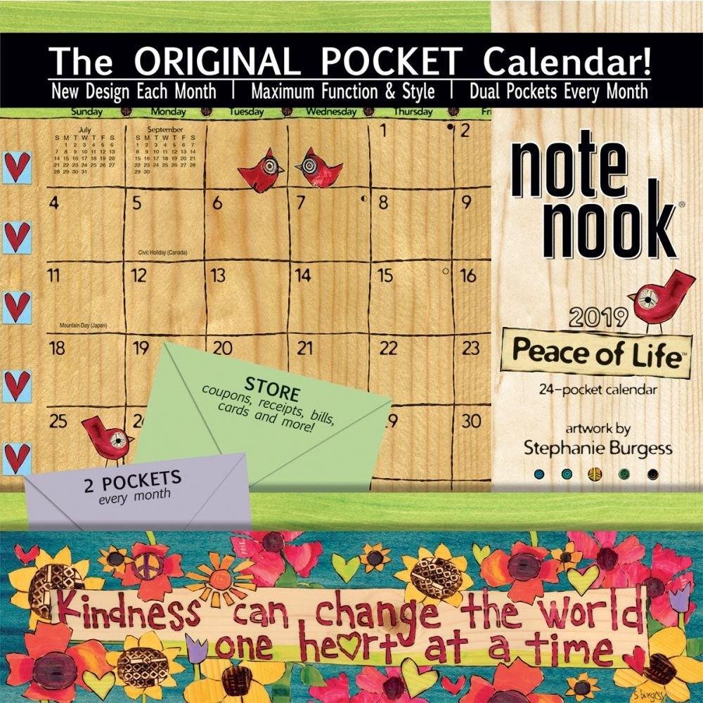 Calendarsdotcom: 2019 Peace Of Life Pocket Wall Calendar, More Folk Calendar 2019 With Pockets
