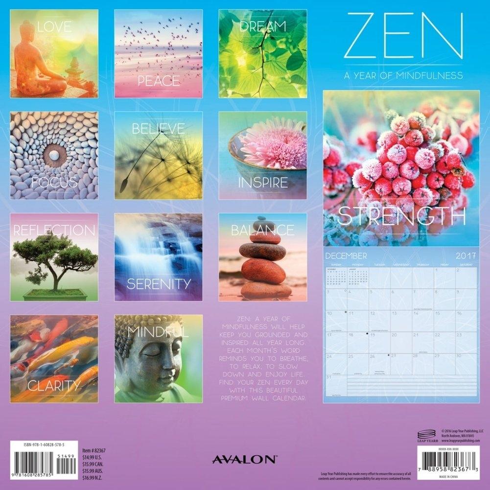 Calendarsdotcom: 2019 Zen Wall Calendar, Zenleap Year Publishing 2019 Calendar Zen
