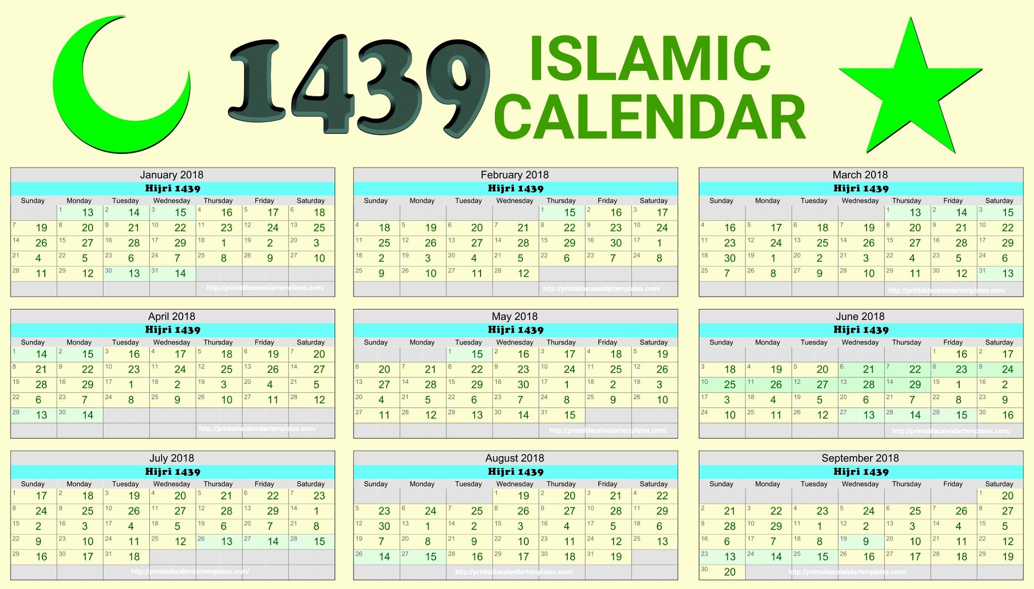 Calendrier Ramadan 2018 2019 Islamic Calendar 2018 Hijri Calendar Calendar 2019 Ramadan
