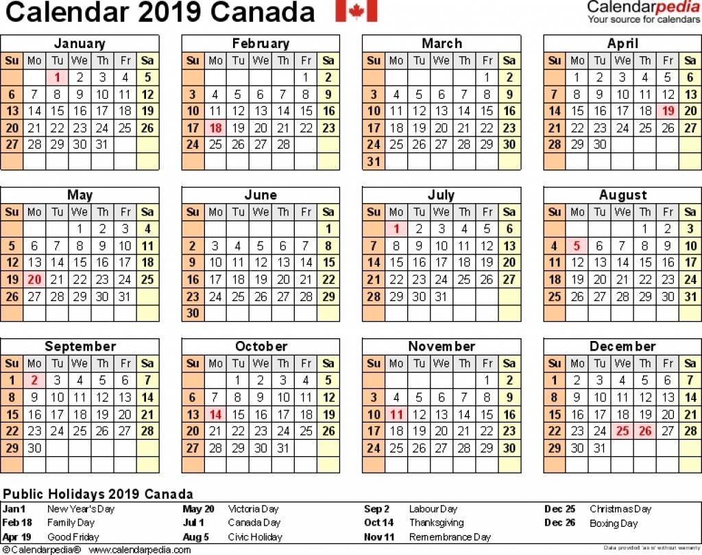 Canada Printable 2019 Calendars 8 X 10   2018 Calendar Template Design 8 X 10 2019 Calendar