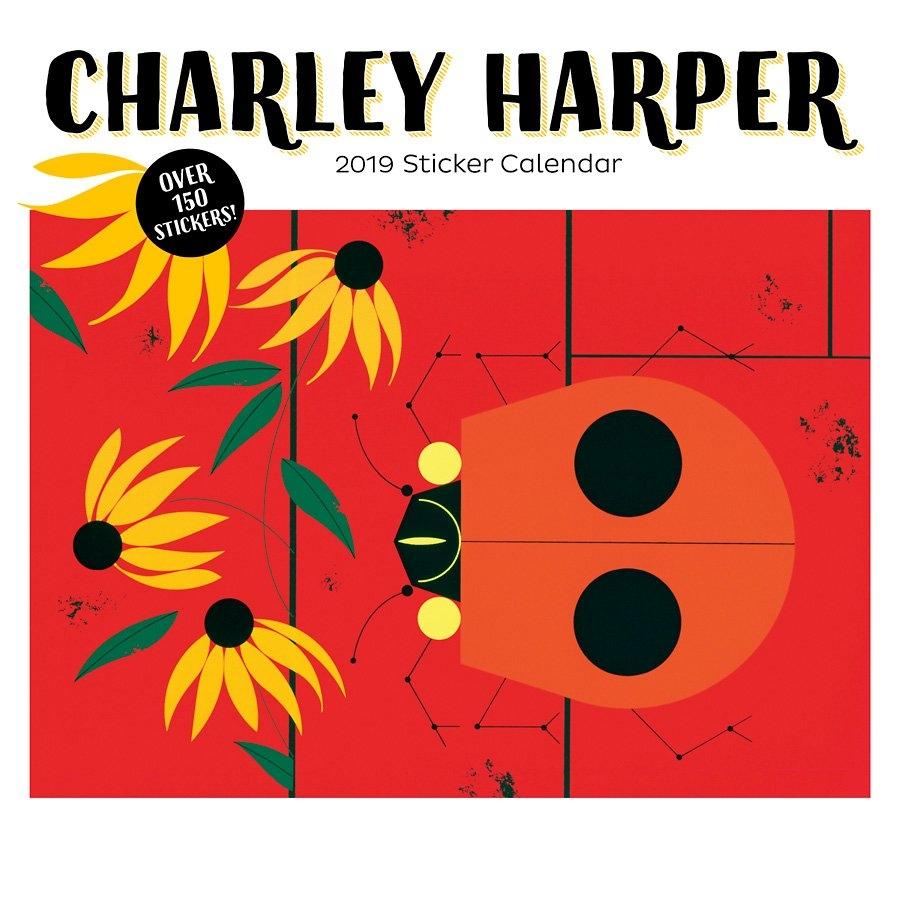 Charley Harper 2019 Sticker Calendar | The Eric Carle Museum Of Calendar 2019 Stickers