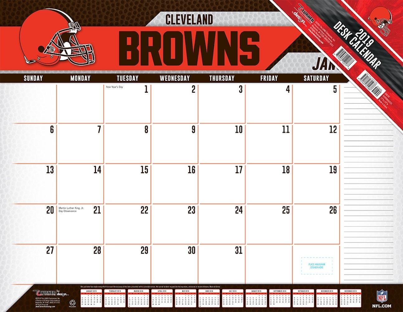 Cleveland Browns 2019 Nfl 22 X 17 Desk Calendar – Buy At Khc Calendar 2019 To Buy