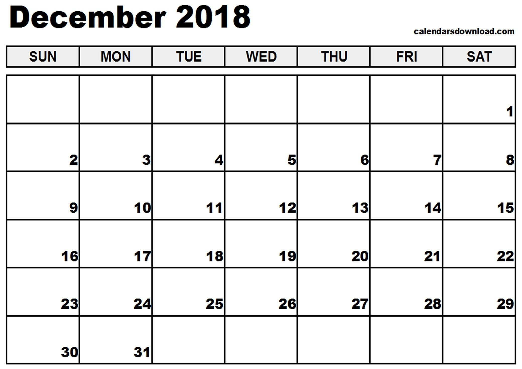 December 2018 Calendar Canada Pdf – Printable Calendar 2019  Blank Calendar Of 2019 Canada