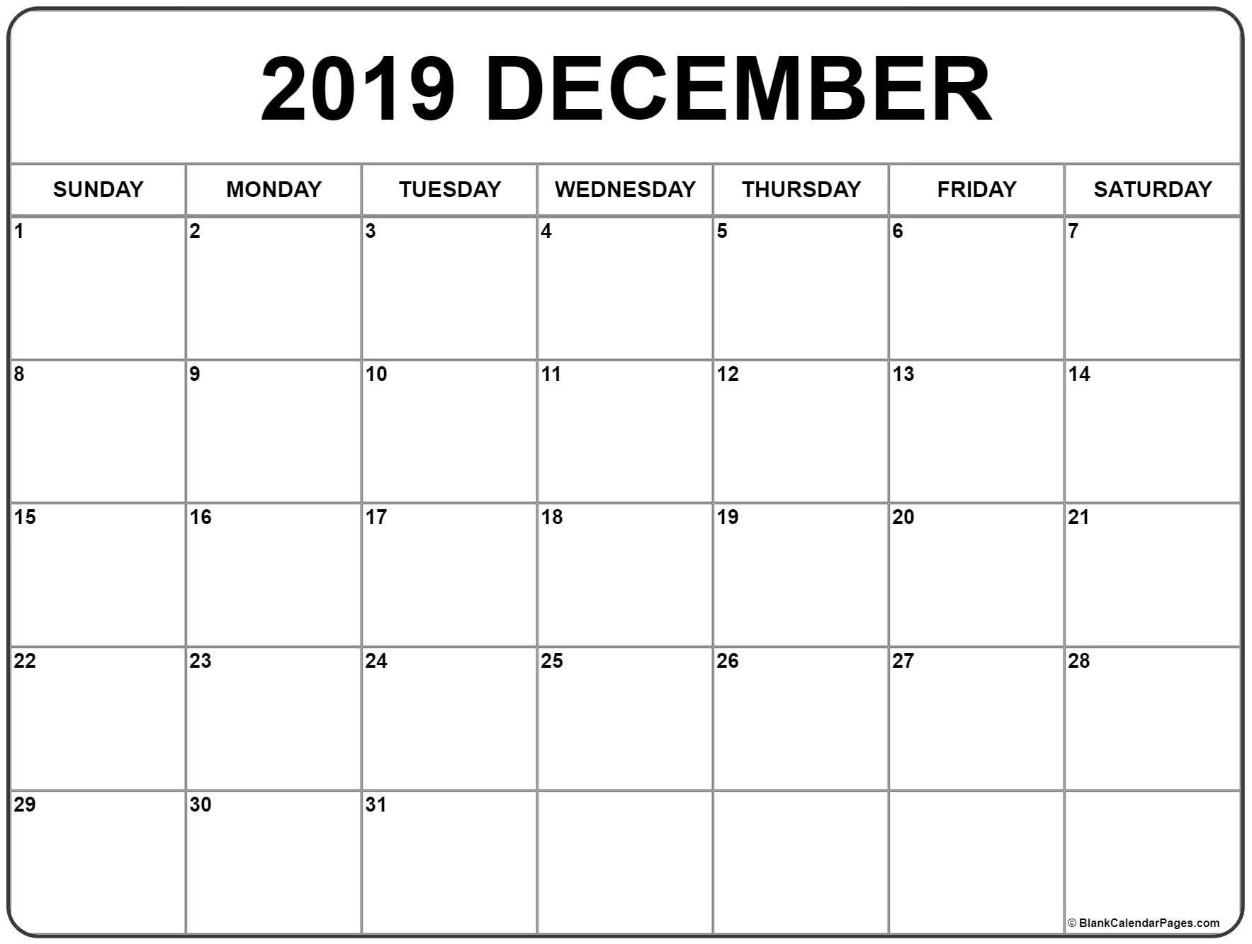 December 2019 Calendar   56+ Templates Of 2019 Printable Calendars Calendar 2019 December