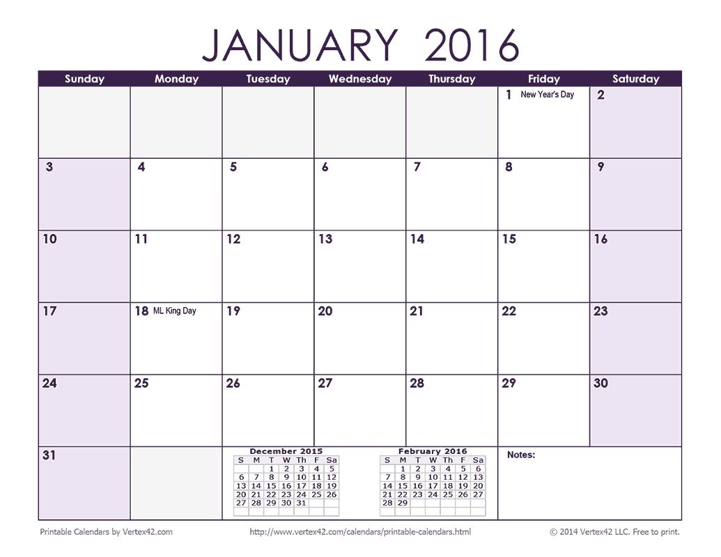 Download A Free 2016 Monthly Calendar – Purple From Vertex42 Calendar 2019 Vertex 42