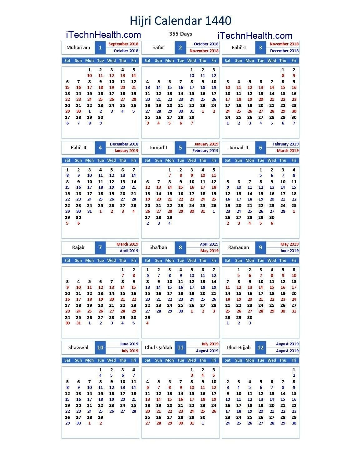 Download Calendar 2019 And Islamic Calendar 2019 / 1440 Islamic Formula E Calendar 2019 Download