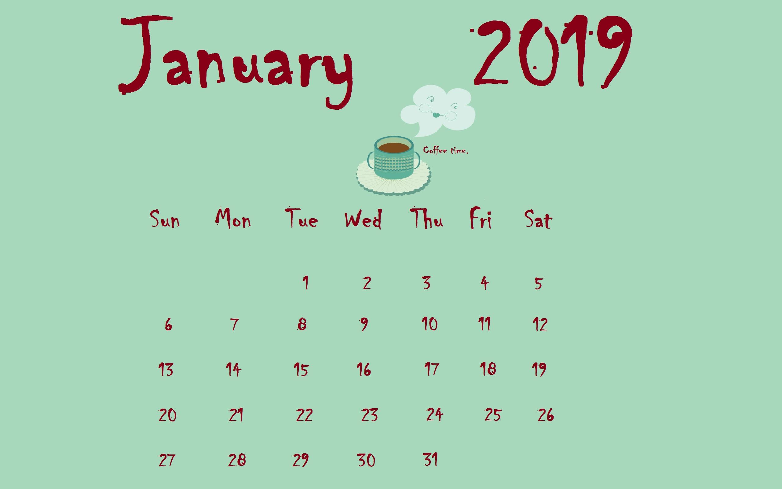 Download January 2019 Desktop Calendar | Calendar Designs In 2019 Calendar 2019 Desktop