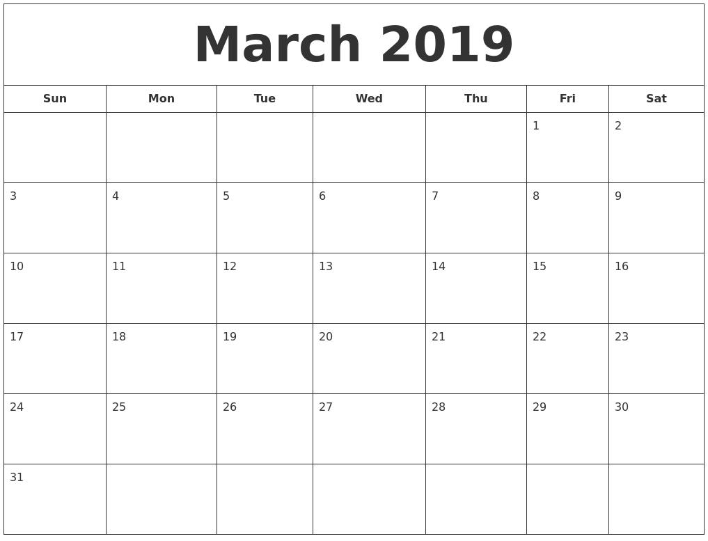 February 2019 Calendar, March 2019 Printable Calendar Calendar 2019 February And March