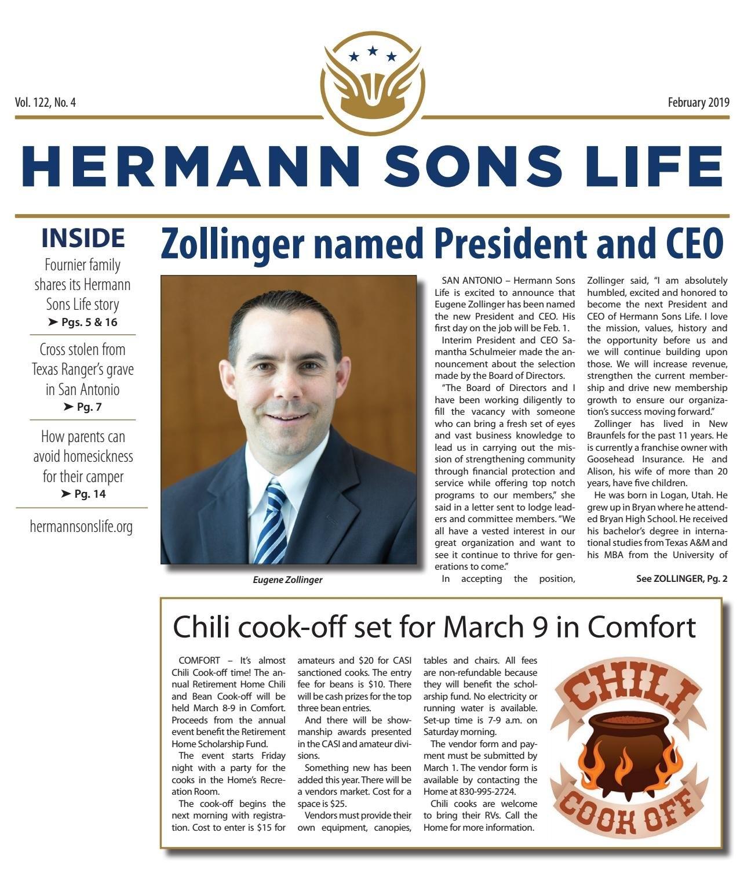 February 2019Hermann Sons Life – Issuu M Harding Roberts Calendar 2019
